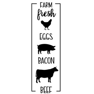 farm fresh eggs bacon beef