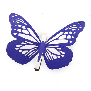 intricate coloring butterfly clothes pin