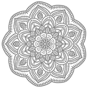 tatted doily mandala
