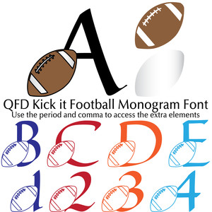 qfd kick it football monogram font