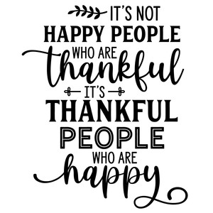 happy people are thankful