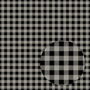 black & gray seamless buffalo plaid pattern