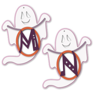 ghost tag m or n letter card