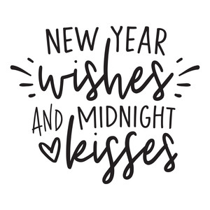 new year wishes and midnight kisses