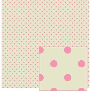 pink and cream polka dot pattern