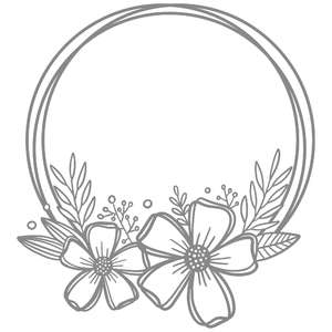 floral messy circle wreath