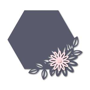 floral hexagon chalkboard