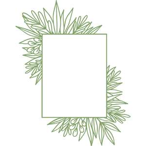 rectangle leaf frame