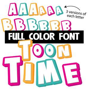 toon time too color font