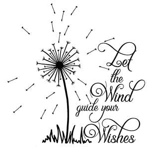 let the wind guide your wishes dandelion quote