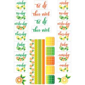 summer citrus planner stickers