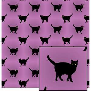 black cat pattern