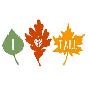 i heart fall phrase on autumn leaves