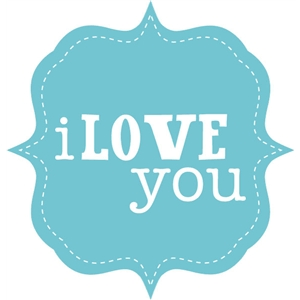 carta bella i love you frame