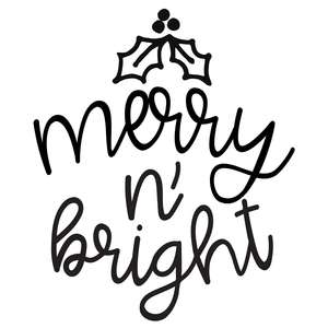 merry n bright round sign for christmas ornaments