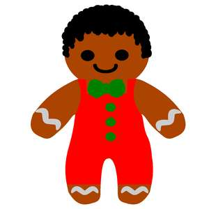 afro gingerbread boy