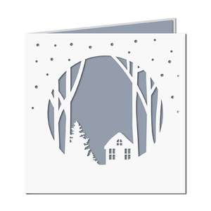 snow house card