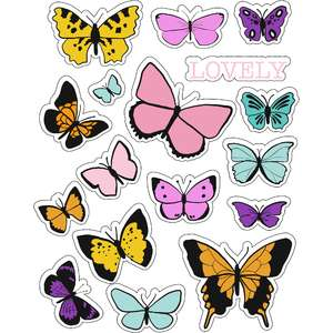 ml butterfly lovely stickers
