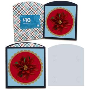 poinsettia gift card envelope