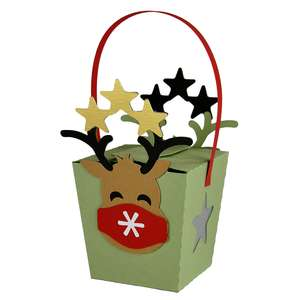 hanging comet with mask box ornament lantern