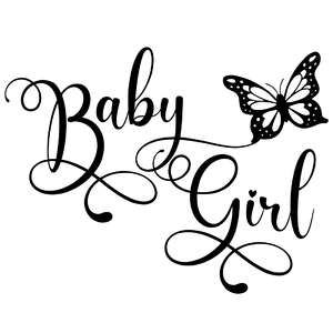 baby girl butterfly quote