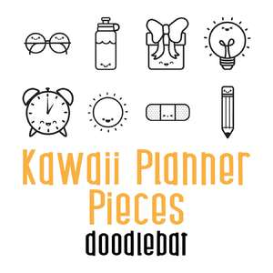 kawaii planner pieces