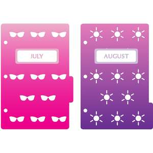 mini 3-ring binder decorative july & august dividers