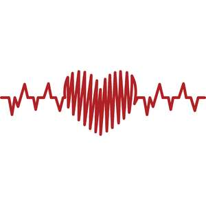heartbeat with scribbled heart