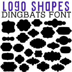 cg logo shapes dingbats