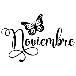 noviembre butterfly word