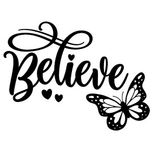 believe butterfly word