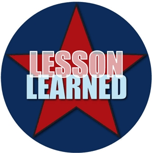 phrase: lesson learned