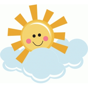 happy sunshine with clouds