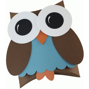 pillow box favor - owl