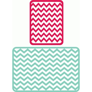 chevron journaling cards 3x4, 4x6