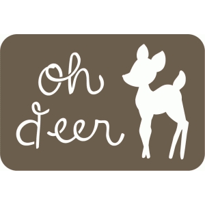 oh deer 4 x6 journaling card