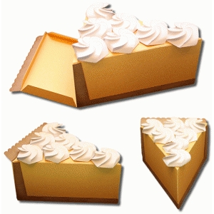 3d lemon meringue pie box