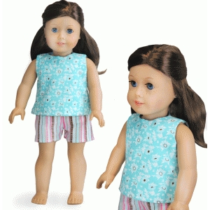 sleeveless blouse for 18-inch doll