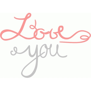 love you (calligraphy)