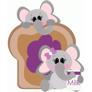 elephants with peanut butter & jelly & milk