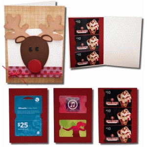 reindeer a7 gift card with gift card inserts
