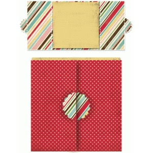 floral square double folded card