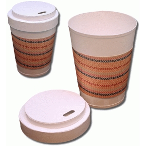 3d coffee cup with wrap