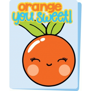 orange kawaii card