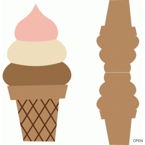 soft serve ice cream cone card