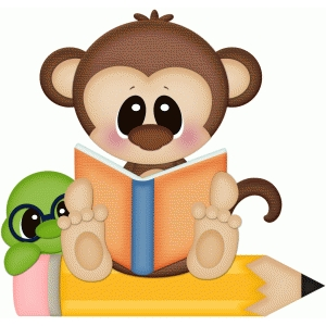 monkey & worm reading book pnc
