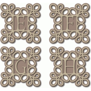 scroll monogram efgh