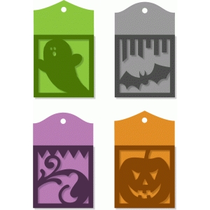halloween pocket tags