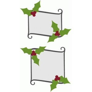 scroll holly labels