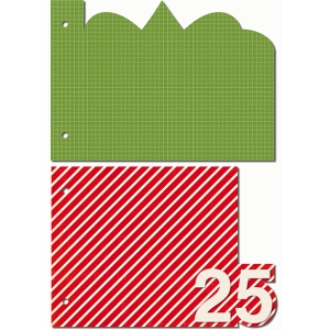 25 days of december 5 x 7 horizontal album simple shape pages